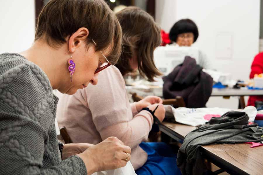 Warsztaty w Muzeum Narodowym - Szycia Przeszycia Uczą Szycia